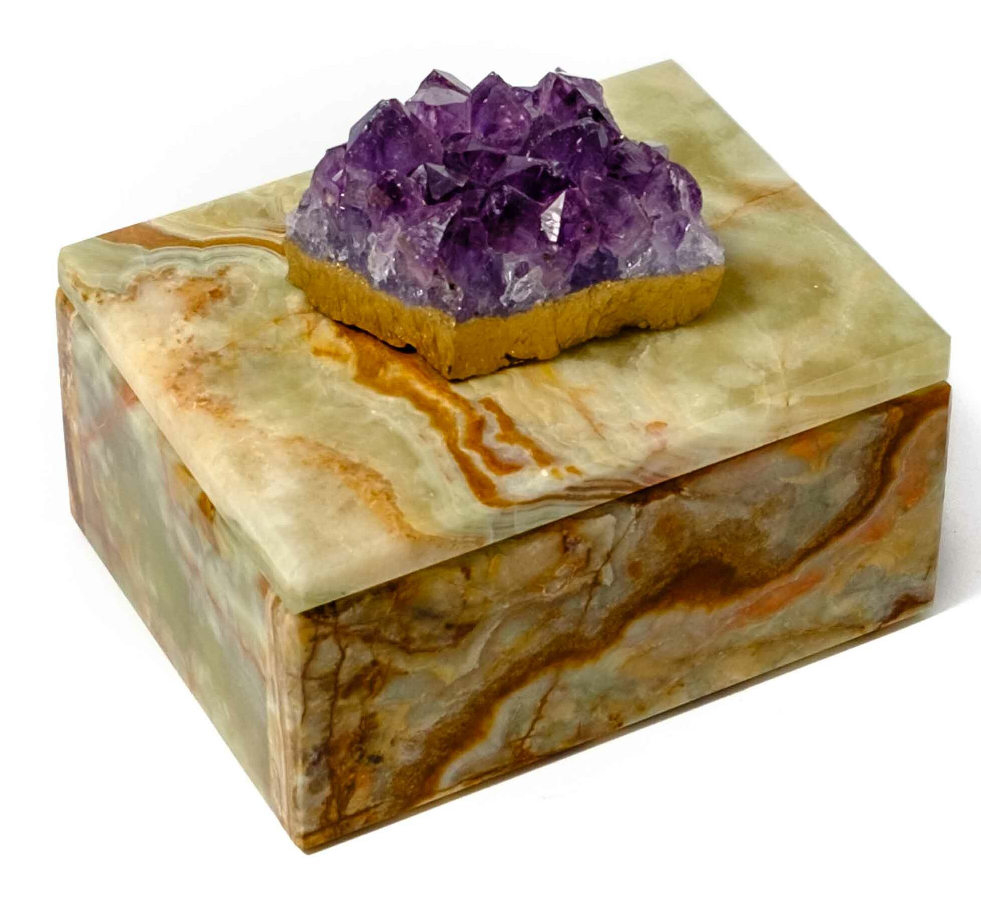 Mapleton Drive Lacquer Box with Amethyst Crystal & Reviews | Wayfair