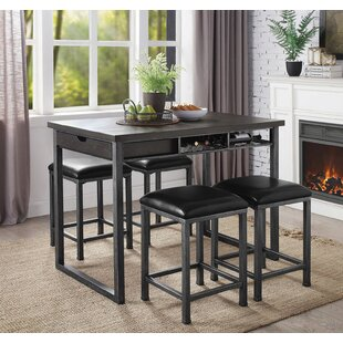 Parham 5 Piece Counter Height Dining Set