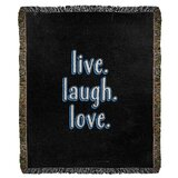 Live Laugh Love Blanket Wayfair