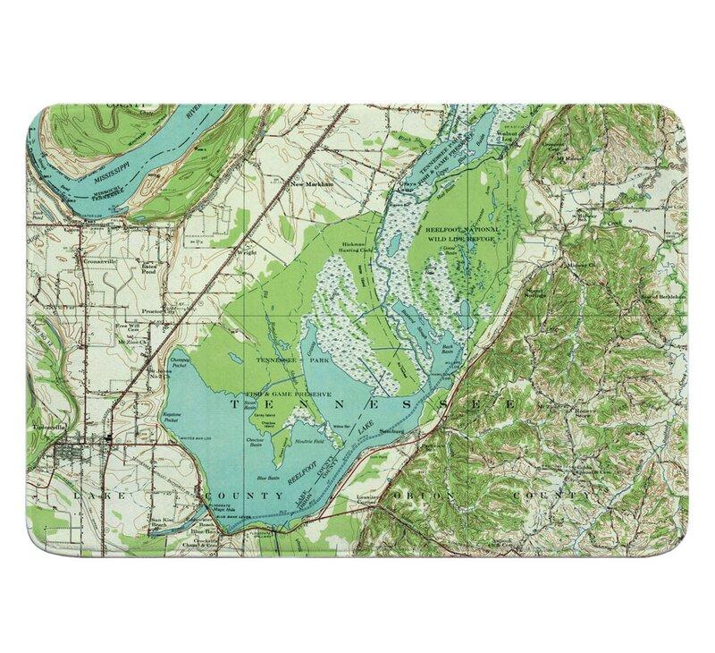 Reelfoot Lake Tennessee Map.Breakwater Bay Messinger Reelfoot Lake Tn 1956 Topo Map Memory