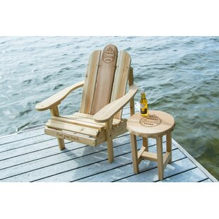 Solid Wood Adirondack Chair with Table by Corona