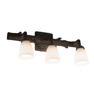 Loon Peak Yingst Pine Goblet 3-Light Vanity Light