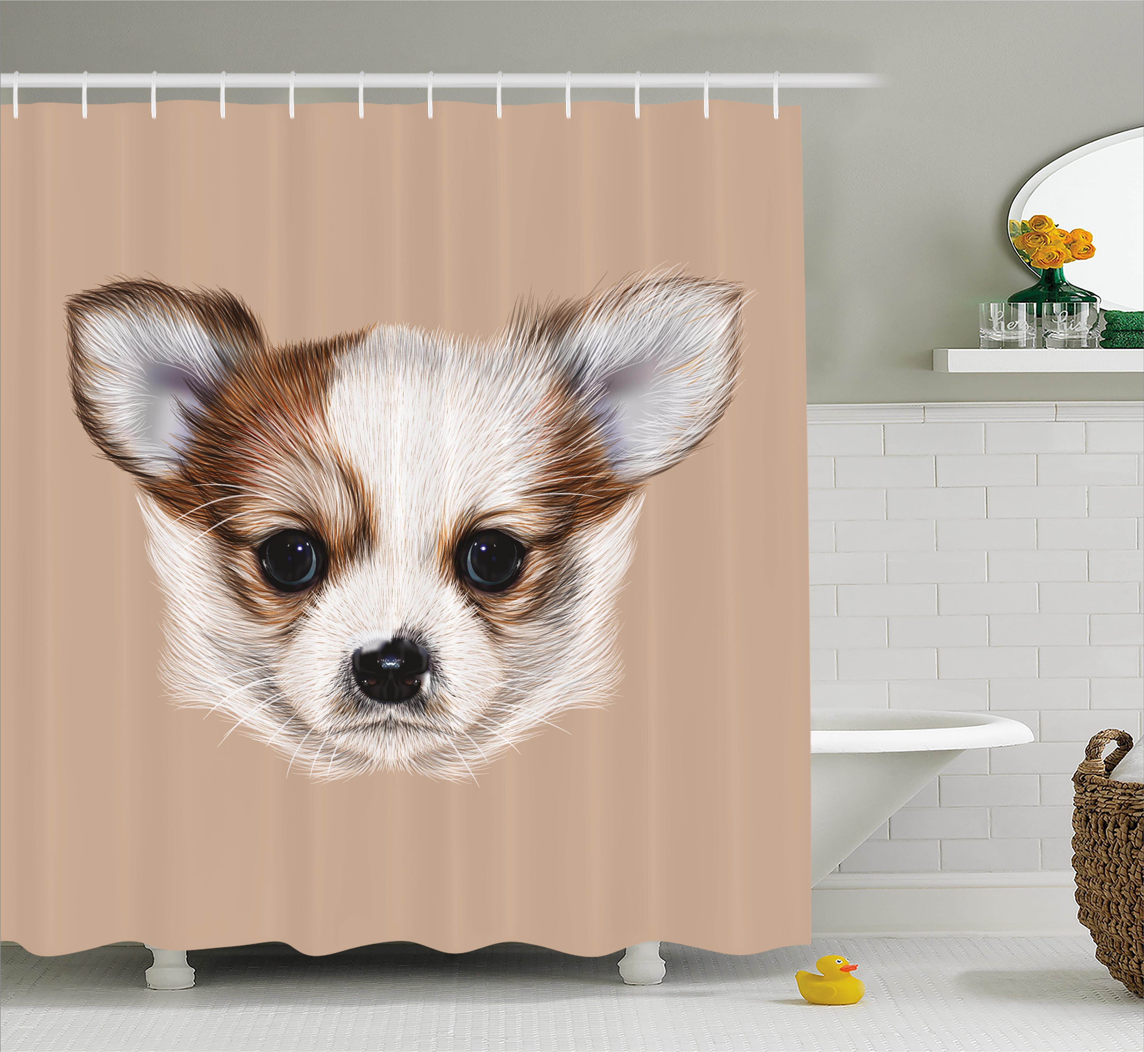 East Urban Home Puppy Portrait Shower Curtain