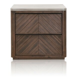 Foundry Select Bog Water 2 Drawer Nightst..