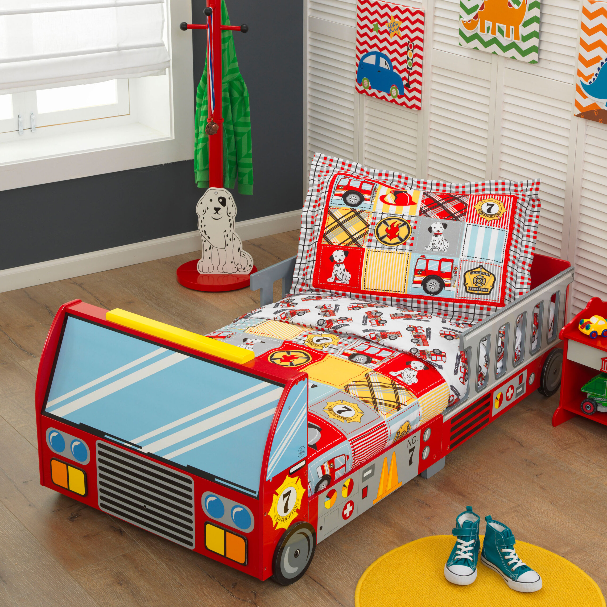 Fine Fire Truck Toddler Car Bed Bralicious Painted Fabric Chair Ideas Braliciousco