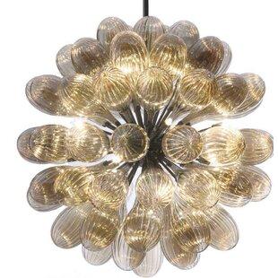 Viz Glass 15-Light Sputnik Chandelier