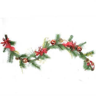 grapevine and pine garland - Grapevine Garland Christmas Decorations
