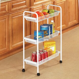 Gorman Deluxe 3 Tier Rolling Bar Cart by Rebrilliant