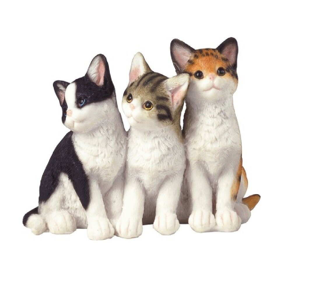 Canora Grey Wachtel Sitting Cats Figurine Wayfair