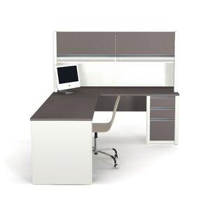 Aurea L-Shape Desk Office Suite with Hutch by Orren Ellis