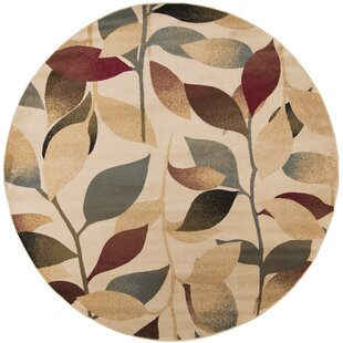 Crisman Beige/Red/Brown Area Rug by Charlton Home