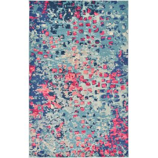 Fujii Blue Area Rug by Bungalow Rose