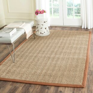 Richmond Hand-Woven Natural / Light brown Area Rug by Beachcrest Home