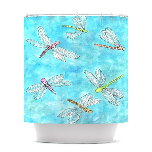 KESS InHouse Dragonfly Shower Curtain