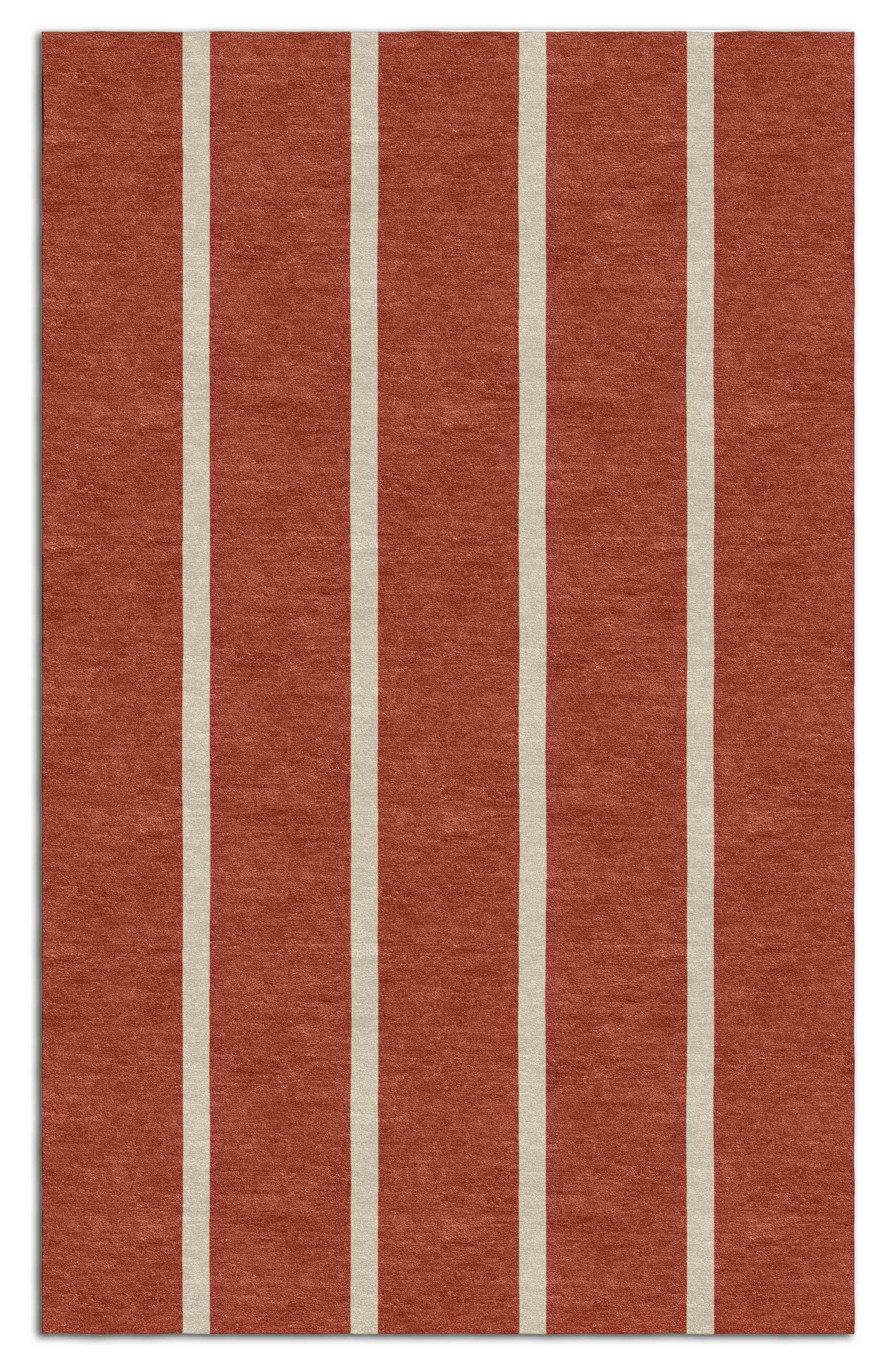 Darby Home Co Telscombe Stripes Hand Tufted Wool Red Area Rug Wayfair