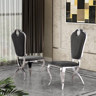 Malt Upholstered Dining Chair by Everly Q..