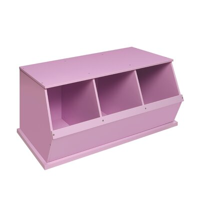 Viv + Rae Bridport Go-To Storage Cubby Toy Organizer Finish: Lilac, Bins: 3