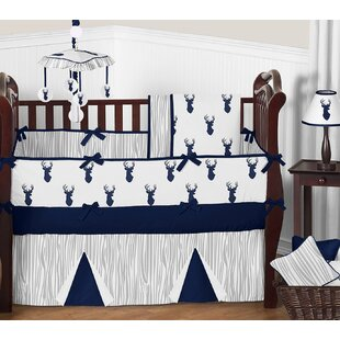 Woodland Deer 9 Piece Crib Bedding Set By Sweet Jojo Designs