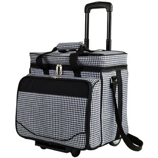 Houndstooth Deluxe Rolling Cooler