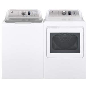 4.6 Cu. Ft. Top Load Impeller Washer and 7.4 Cu. Ft. Gas Dryer by GE Appliances