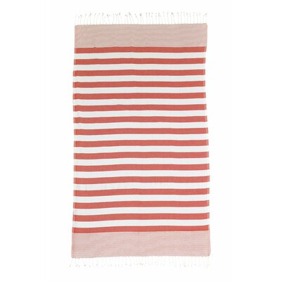 Brielle Pestemal Turkish Cotton Beach Towel Color: Red