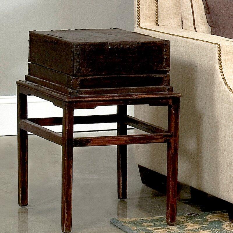 Sarreid Ltd Solid Wood End Table