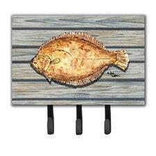 Fish Flounder Leash Holder and Key Hook by Caroline's Treasures