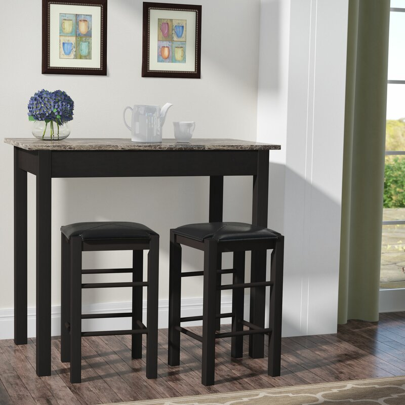 Prosser 3 Piece Counter Height Dining Set & Charlton Home Prosser 3 Piece Counter Height Dining Set \u0026 Reviews ...