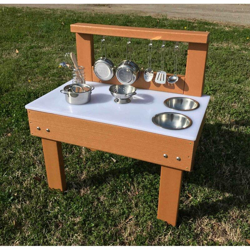 Kids' Station Indoor/Outdoor Toddler Mud Kitchen Set | Wayfair on Patio Kitchen Set id=31117