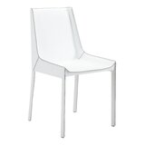 Lyall Leather Upholstered Side Chair in Metal (Set of 2) by Orren Ellis