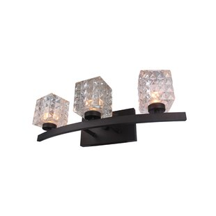 Wrought Studio Sadowski 3-Light Metal/Glass Vanity Light