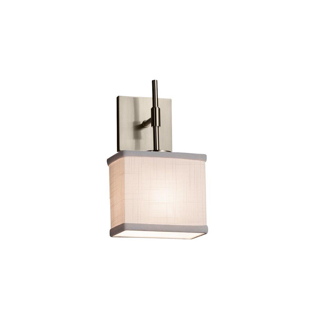 Ebern Designs Alhaji 1 Light Dimmable Brushed Nickel Armed Sconce Wayfair