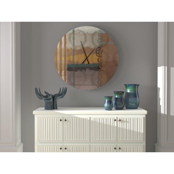 Latitude Run Advisable Gutsy Abstract Metal Wall Clock Wayfair