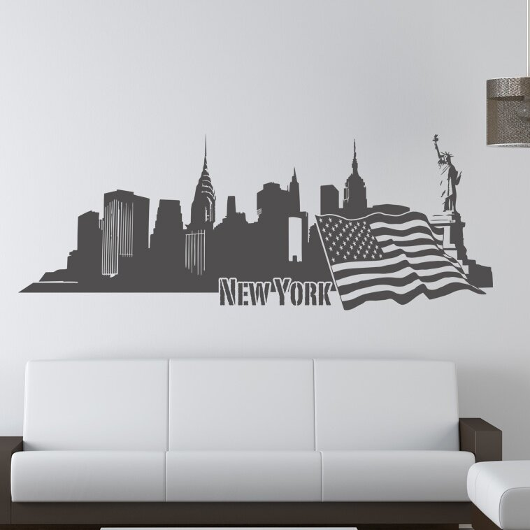 Style And Apply New York Ii Skyline Wall Decal Wayfair