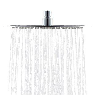 AKDY Round Single Spray Brass/Acrylic Fixed Swivel Rain Shower Head