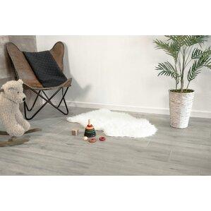porcelain wood look tile in glazed gray