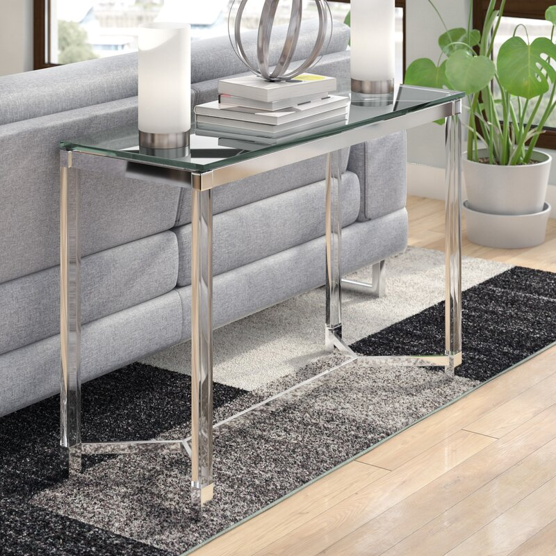 Farmingdale Console Table glass console tables Discover 5 Stunning Glass Console Tables Farmingdale Console Table