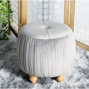 House of Hampton Ahner Eclectic Round Tufted Ottoman