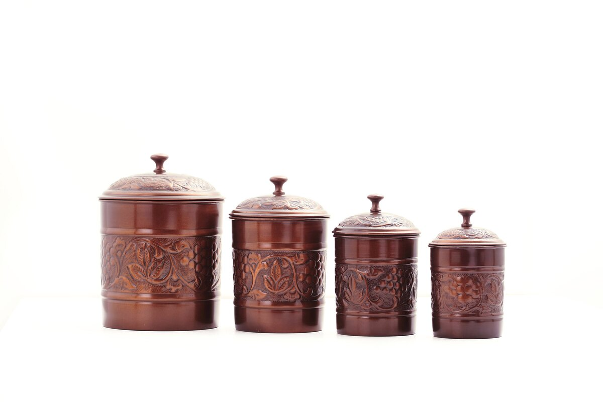 old dutch heritage 4 piece kitchen canister set reviews wayfair default name