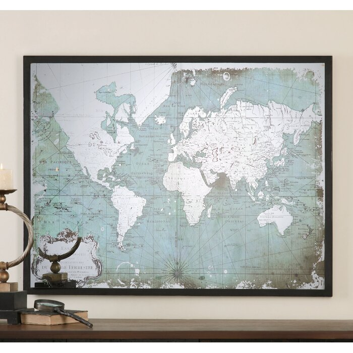Bloomsbury market mirrored world map framed graphic art reviews mirrored world map framed graphic art gumiabroncs Image collections