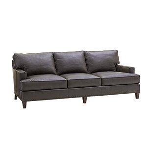 Zavala Hughes Leather Sofa by Lexington 2019 Online