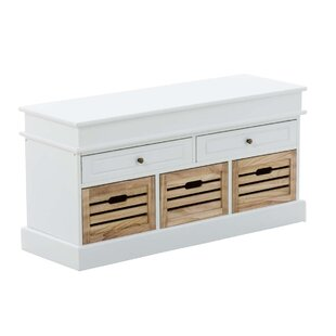 Achilles Wood Storage Bench By Beachcrest Home
