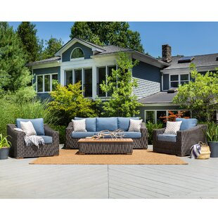 New Boston 4 Piece Sunbrella Sofa Seating Group with Cushions