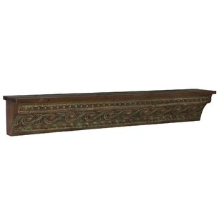 Decorative Wall Shelf With Painted Banana Skin