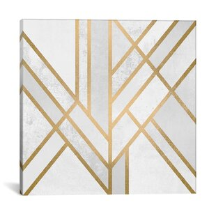 Nice Art Deco Geometry II Graphic Art On Wrapped Canvas