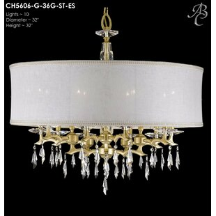 American Brass & Crystal Kaya 10-Light Chandelier
