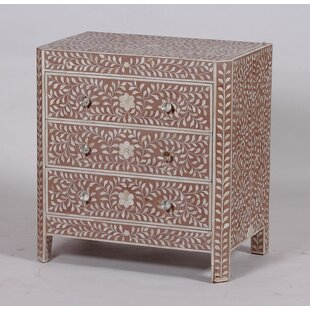 Compare Clarkedale 3 Drawer Chest By Bungalow Rose