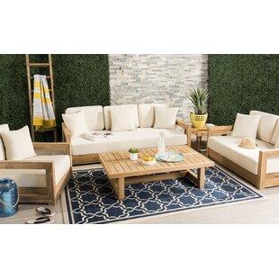 Lakeland 5 Piece Teak Deep Seating Group with Cushions