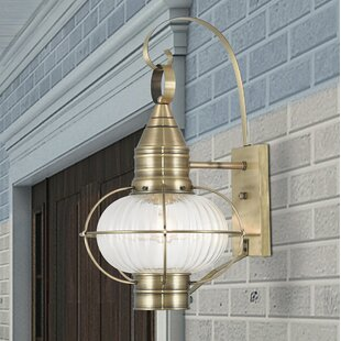 Breakwater Bay Elmhurst 1-Light Outdoor Wall Lantern