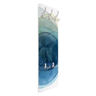 Blue Wall Mounted Coat Rack By Symple Stuff